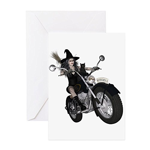CafePress–Witchy One ~ Speedy Grußkarten–Grußkarte, Note Karte, Geburtstagskarte, innen blanko, matt