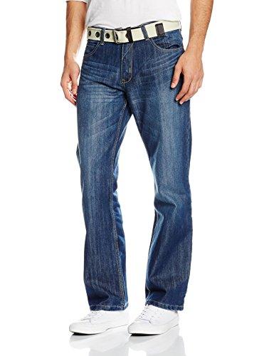 Enzo Herren Jeans mit Lockerer Passform Blue (Lightwash)
