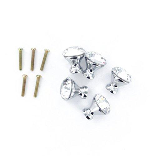 LEORX 10ST 25mm Kristallglas Knob Schublade Kabinett Küche Küchenschrank Knopf Zug-Handgriff