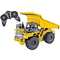 Top Race 6 Channel Full Functional Dump Truck, RC Remote Control Construction Dump Truck Tractor with Lights & Sounds 2.4Ghz (TR-112G) - Compare prices on radiocontrollers.eu
