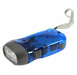 A&T Hand-Pressed Led Flashlight Dynamo Torch - For Home, Car Emergencies, Camping,
