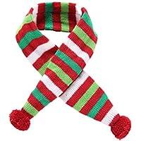 POPETPOP Pet Dog Puppy Cat Christmas Scarf Disfraz de Navidad para Mascota pequeña XS