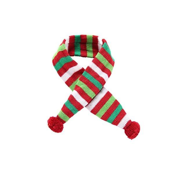 POPETPOP Elegante Bufanda para Mascotas, Bufanda de Navidad Ajustable para Perrito, Baberos Accesorios para Perros y… 1