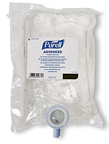 PURELL 2156-08-EEU00 NXT Advanced Hygienic Hand Rub, 1000 mL Refill (Pack of 8)