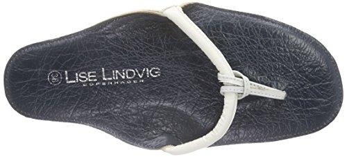 Lise Lindvig Nora Damen Zehentrenner Mehrfarbig (White/blue)