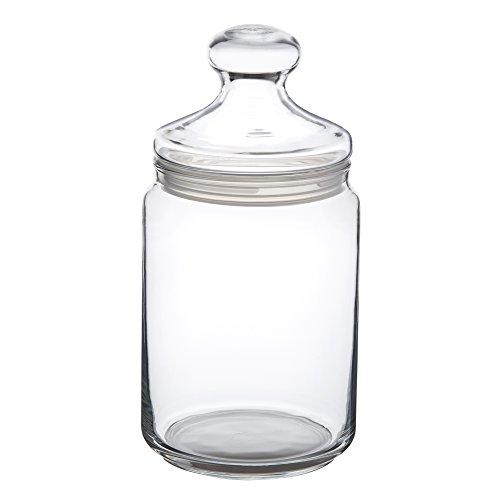 Casa vivente barattolo per caramelle in vetro borosilicato, tappo incluso con impugnatura e chiusura ermetica, capacità ca. 1000 ml