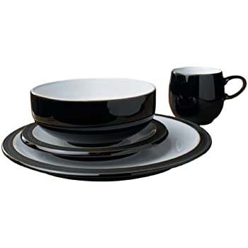 Denby Jet Black Boxed Tableware Set 16-Piece  sc 1 st  Amazon UK & Denby Jet Black Boxed Tableware Set 16-Piece: Amazon.co.uk ...