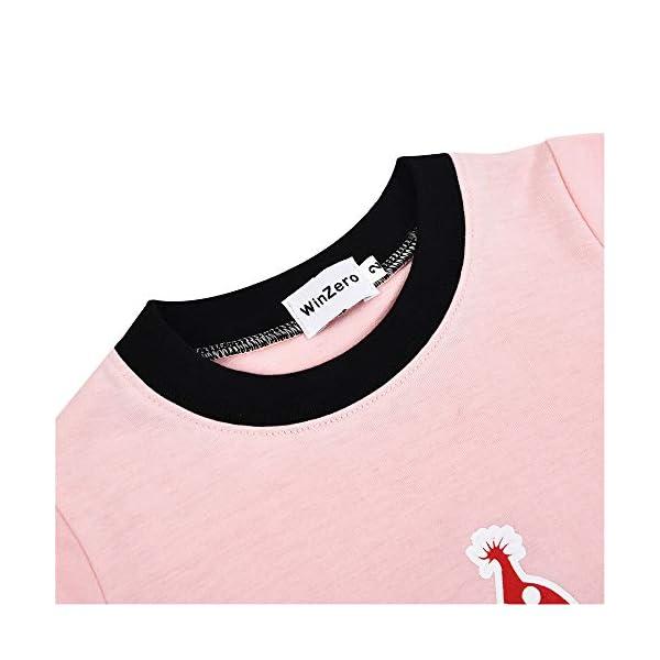 Winzero - Conjunto de pijama de Navidad para niñas, manga larga, algodón, pijama, camisas, pantalones y camisas, ropa de… 5