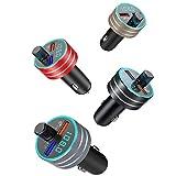 Lebron ray Auto MP3-Player Bluetooth FM-Transmitter Mit QC3.0 Dual-USB-Schnellladung Mit LED-Leuchten Unterstützen TF-Karte, Freisprechen, Sprachübertragung, Musikwiedergabe