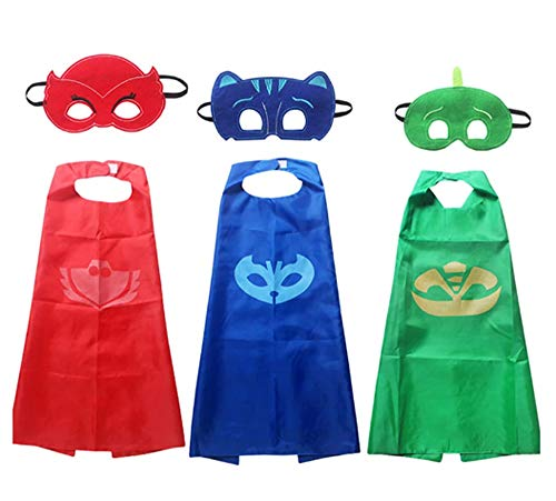 Brigamo 3 x Pyjama Kids Superhelden Kinderkostüm