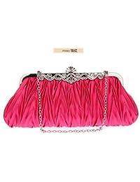 fb6ad6207 Hi-Smile Mini Cartera Bolso de Mano de Las Mujeres cóctel de Seda embragues  Noche