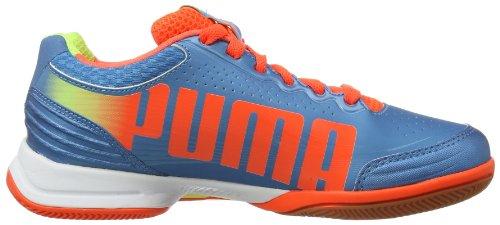 Puma evoSPEED Indoor 3.2 102851 Unisex-Erwachsene Hallenschuhe Blau (sharks blue-fluro peach-fluro yellow 03)