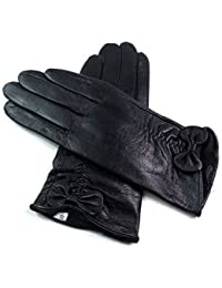 Ladies Womens Superb High Quality Real Leather Gloves Fully Faux Fur Lined Winer Warm