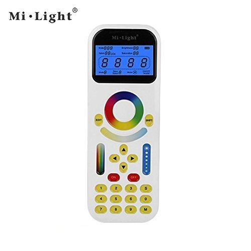 kingled–Fernbedienung Full Touch Multizonen rgb-cct für Strahler Schienen mehrfarbig mit Farbwechsel von Temperatur, mit LCD, Serie Milight, Abstand Kontrolle bis 30Meter, Cod. 2197 (Einzelne Die Lcd Zone,)