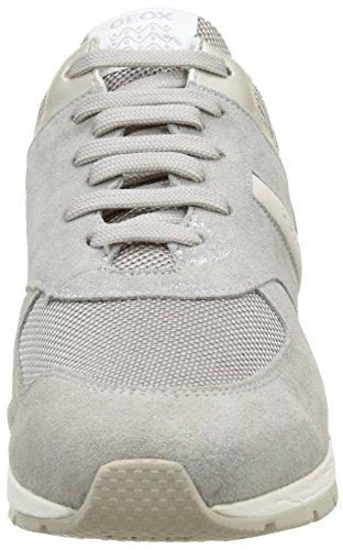 Geox D Shahira A, Sneakers Basses Femme Gris (LT GREYC1010)
