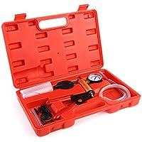FEMOR Comprobador de Vacío Purgador de Frenos Bomba de Vacío con Maletín de Plástico Rojo