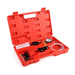 Specification: Avec la pompe à dépression, vous pouvez tester facilement l'étanchéité pression de l'air du système de freinage ou du climatiseur ou du frein de soutirage et changer les liquides de frein. Pratique, adapter à presque toutes les voiture...