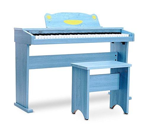Artesia F-61BL Kinder Digitalpiano (E-Piano, Keyboard, Bank, Kopfhörer, 61 anschlagsdynamische Tasten, 8 Sounds, 1 Demo Song, 32-Fache Polyphonie, USB-Anschluss, inkl. Apps für Android und iOS) blau