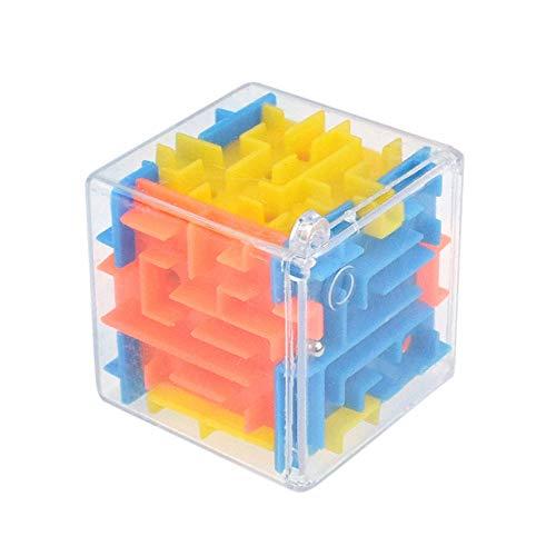 Angelof - Jouet éDucatifs - 3D Cube Puzzle Labyrinthe Jeu De Main BoîTe De Cas Amusement Jeu De Brain DéFis Bouger Jouets - IdéE Cadeau Uniqu
