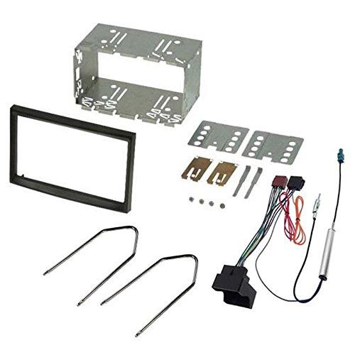 sound-way - Kit montaggio autoradio 2 DIN con bordo per Fiat Scudo/Peugeot 207-307/Citroen C2-C3