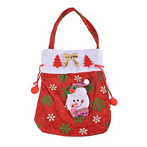 Eever decorazioni di buon ornamento da festeggiare santa claus snowflake candy bag confezione regalo decorazione natalizia 40 * 20cm