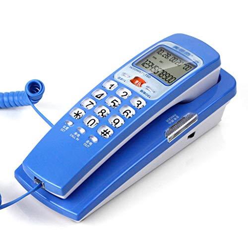 Qivor Kabelgebundene Telefon-Wandbehang-kleine Expansion und Anzeige, Schule/Aufzug/Werbung/Familie (Color : Blue) (- Aufzug-telefon)