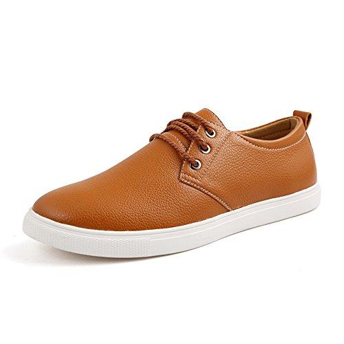 CUSTOME Homme Chaussures en Cuir Appartement Doux Mode Loisir Oxfords Poids Léger Lacer Confort Chaussures Formelles Chaussures en Cuir
