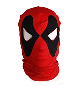 Tissu côtelé Deadpool Cagoule X-men Cosplay/Halloween Masque facial complet