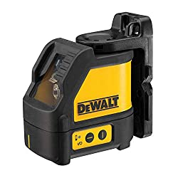 Dewalt cross-line laser (self-leveling, horizontal and vertical laser lines, laser color red, laser class 2, 2 button operation, incl. Wall mount, batteries and case) DW088K