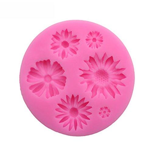 MSYOU Formen aus Silikon, romantisches Blumenmuster, handgefertigt, für Muffins, Fondant, Kuchen, Gelee, Schokolade, Kekse, Seife, Rosa