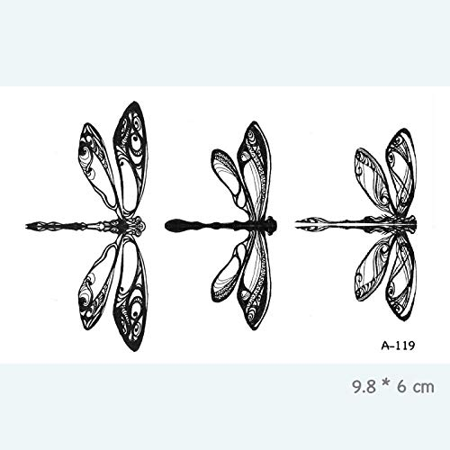 Dragonfly Kostüm Mann - Tattoo Aufkleber Haut Dragonfly Waterproof Temporary Tattoo Stickers For Adults Kids Art Fake Tatoo For Women Men Tattoos 8Pc