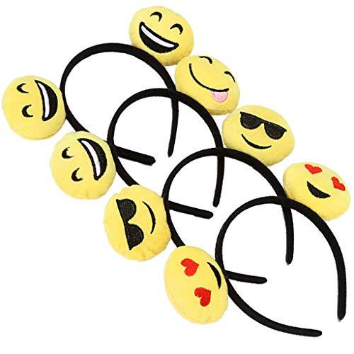 Pennyninis Haarband für Erwachsene, Kinder, niedliches Emoji-Design, mit Ohren, Plüsch, zufällige Auswahl