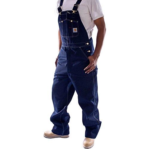 Carhartt - Latzhose, Denim - Indigoblau jeanslatzhose jeans- latzhosen männer -