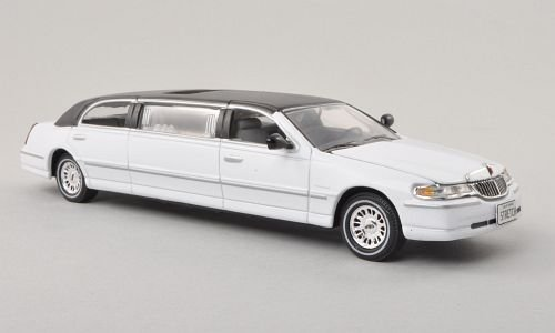 lincoln-town-car-weiss-schwarz-2000-modellauto-fertigmodell-vitesse-143