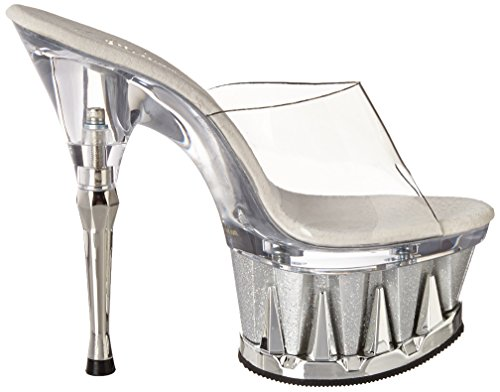 SPIKY-601MG - Pleaser USA Shoes Blanc