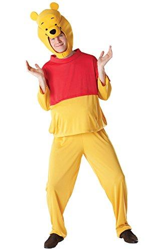 Rubie's offizielles Erwachsenen-Kostüm von Disneys Pu der Bär für Herren und Damen, modisches Kostüm (Pooh Und Tigger Kostüm)