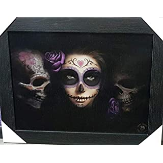 ANNE STOKES Official Gothic Collection Day of the Dead Framed Lenticular 3D Art Poster Picture New size 47 x 37 cm