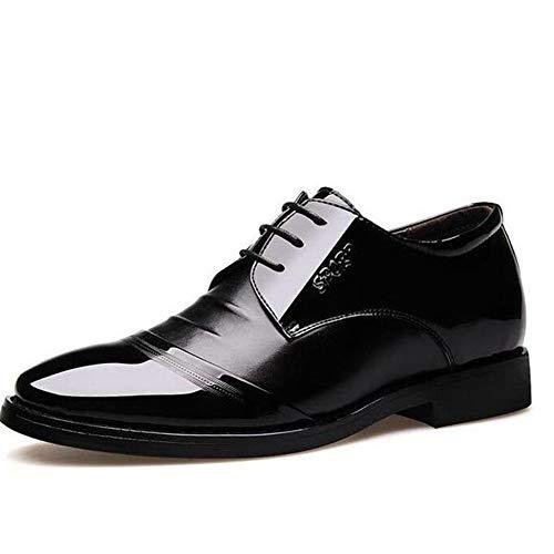 Feidaeu Die Oxford Schuhe der Männer kleiden Schwarze Flache Spitze des Spitzens die Hochzeitsgeschäfts Büroschuhe spitzt (Izod-uniformen)