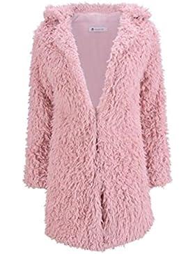 AILIENT Abrigo Mujer Chaquetas Peludos Jacket Elegantes Coat Hipster Outwear Casuales Sweater Coat Caída Invierno
