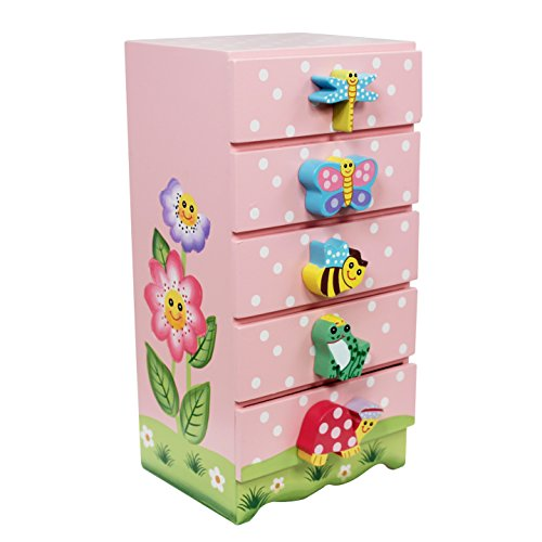 Fantasy Fields by Teamson Magic Garden Collection Trinket Chest, Rosa