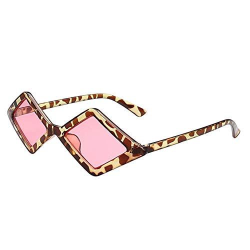 KIDYNO Small Frame Square Sonnenbrille Damen Herren Rhombus Sonnenbrille Candy Color Sonnenbrille
