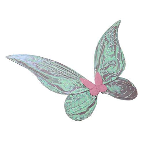 MagiDeal Farbverlauf Schmetterling Flügel - Feen Kostüm Kinder Erwachsenen - Rosa, 62cm * 52cm