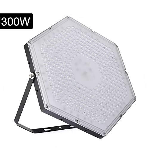 Sararoom 300W LED luce di inondazione, faretto LED 120 °, luce di sicurezza impermeabile IP65 per stadi interni ed esterni, hotel, campi da calcio, piazze (luce bianca fredda)
