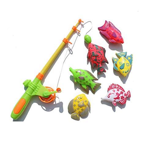 Leoboone Kreative 7 Stücke Magnetische Angeln Spielzeug Set Angeln Lernen Bildung Spielen Set Angeln Spiel Spielzeug Für Kleine Jungen & Mädchen