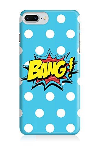 COVER Comic Cartoon Bang blau dots Design Handy Hülle Case 3D-Druck Top-Qualität kratzfest Apple iPhone 8 Plus