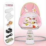 Chaise De Bascule Pour Enfants Wbdd 0-3 Ans Bébé Bébé Électrique Cradle Pacifier - Bed Swing Bed Baby Nest Version...