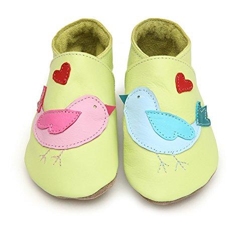 Lovebirds citron Starchild cuir souple chaussures de bébé (petit 0-6 mois EU 18 UK 2)