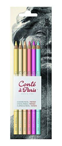 Conté a Paris 50112 Pastellstite (hochwertigen Künstler, Zeichenstifte mit weiche, cremige Textur,...
