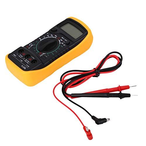 Auto Polarity Display Multímetro digital XL830L Volt Meter Amperímetro Ohmmeter Yellow Tester Prueba de continuidad con zumbador de sonido