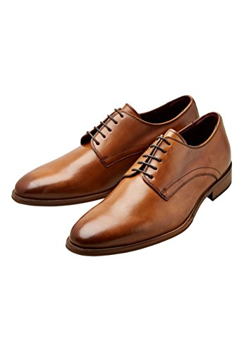 next Chaussures Derby Signature Unies Tan